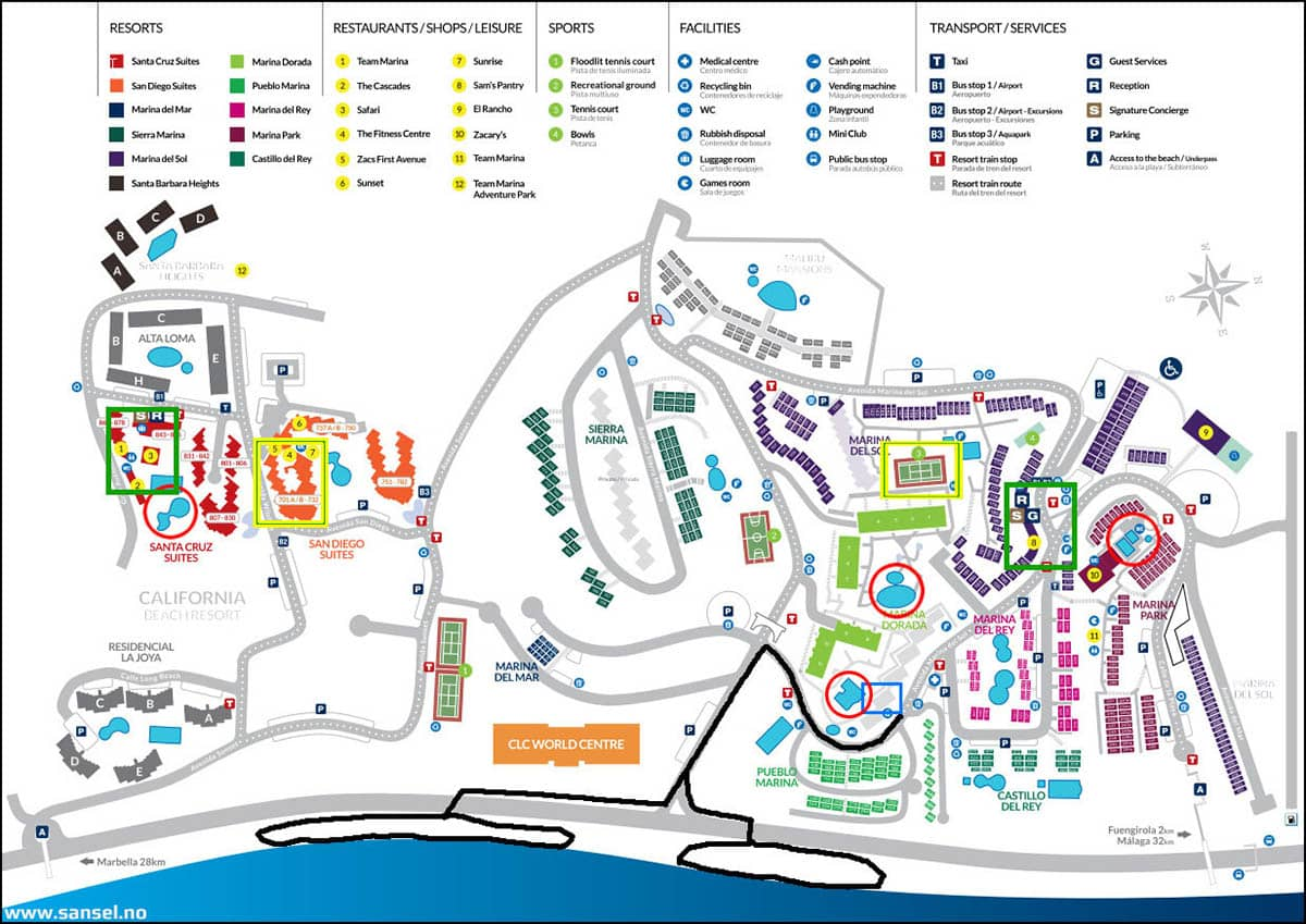 CasaAgnethe Resort Map