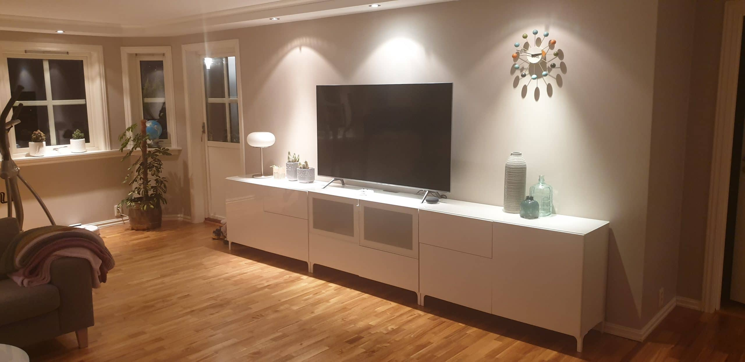 Downstairs tv area