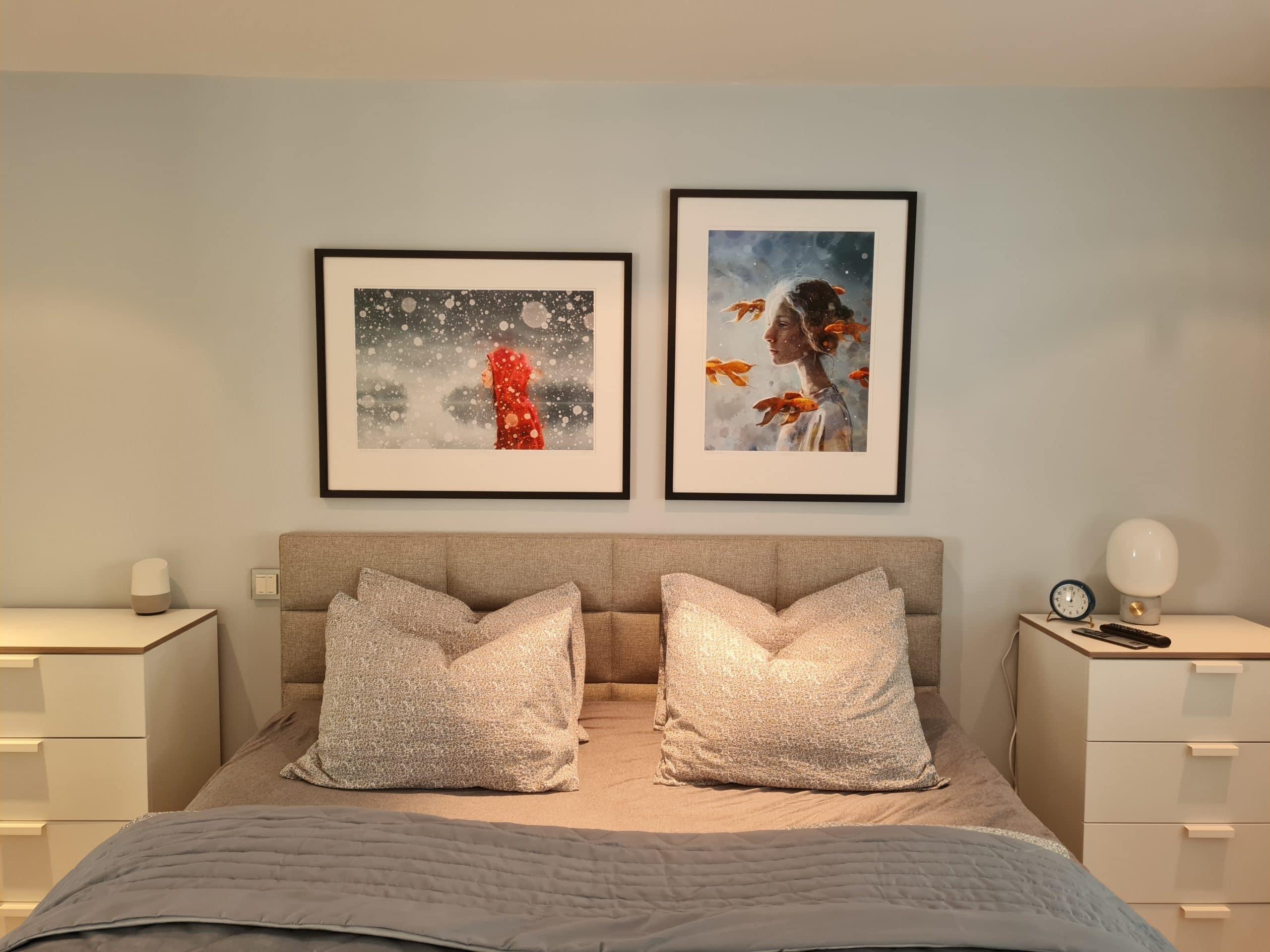 Art in Master bedroom