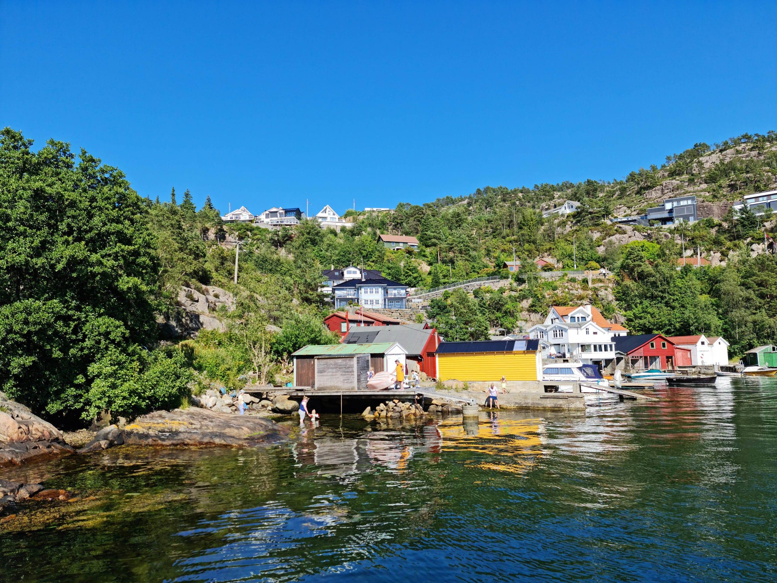 The villa from the sea