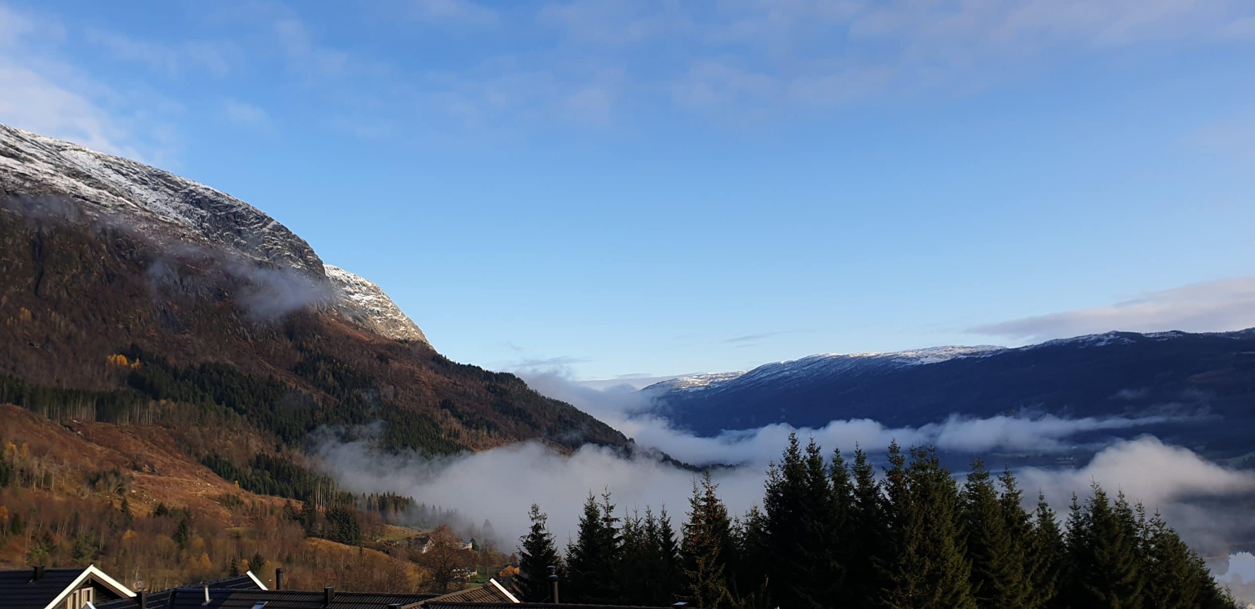 Incoming morning fog